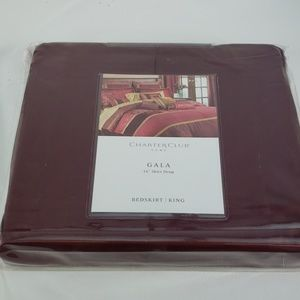 """CHARTER CLUB MAROON BED SKIRT WITH 16"""" DROP"""